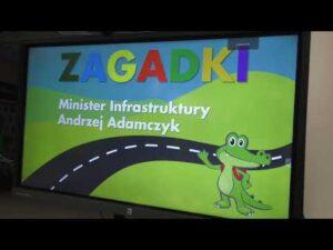 Lekcja BRD online z udziałem Ministra Infrastruktury