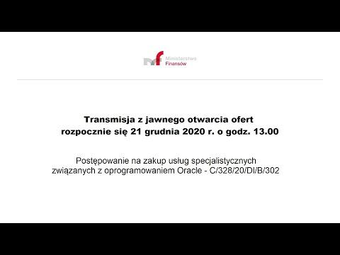 Transmisja z jawnego otwarcia ofert 21.12.2020 g.13.00