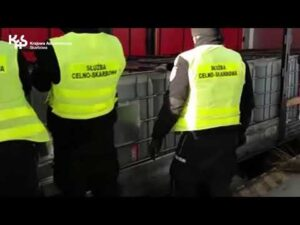 KAS zatrzymała nielegalny transport 78 ton substancji ropopochodnej (audiodeskrypcja)