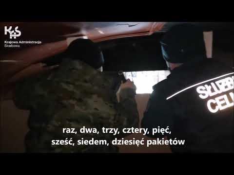 Papierosy zatrzymane w pociągu towarowym w Terespolu (audiodeskrypcja)