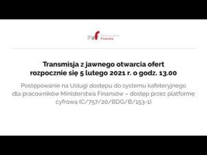 Transmisja z jawnego otwarcia ofert 05.02.2021 r. g. 13.00