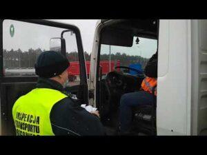Karciane problemy kierowców ciężarówek