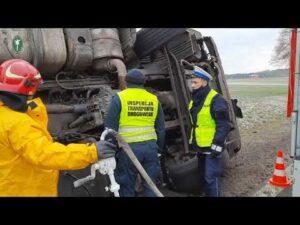 Groźne zdarzenie drogowe i braki w tachografie
