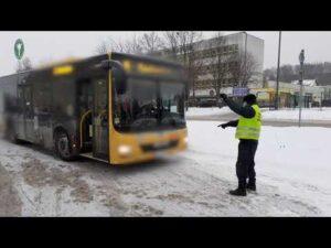 Kontrole autobusów miejskich w Koszalinie i Policach