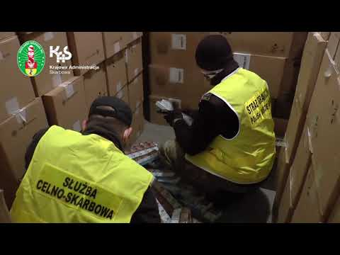 KAS i SG udaremniły przemyt ponad 1,8 mln paczek papierosów w Kuźnicy (audiodeskrypcja)