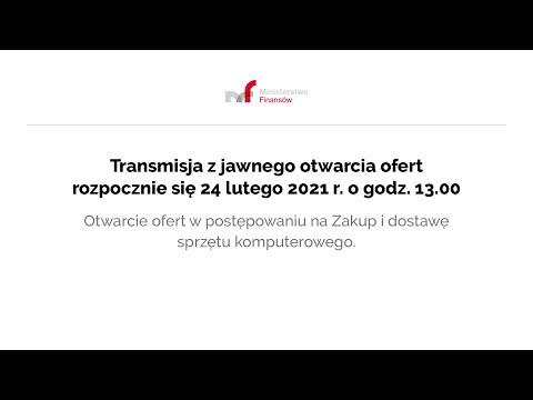Transmisja z jawnego otwarcia ofert 24.02.2021 r. g. 13.00