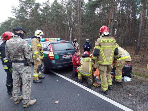 Funkcjnariusze Straży Granicznej pomogli poszkodowanemu kierowcy