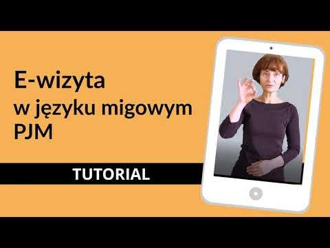 E-wizyta w języku migowym PJM