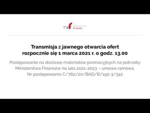 Read more about the article Transmisja z jawnego otwarcia 1 marca 2021 r. o g. 13.00