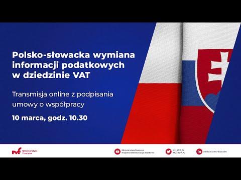 Podpisanie polsko-słowackiej umowy o automatycznej wymianie informacji w dziedzinie VAT