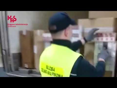 KAS udaremniła przemyt papierosów wartych ponad 9,5 mln zł (audiodeskrypcja)
