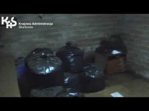 KAS i CBŚP zlikwidowały fabrykę tytoniu w Łodzi (audiodeskrypcja)