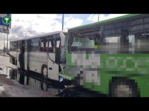 Inspektorzy na miejscu wypadku autobusów w Szczecinie