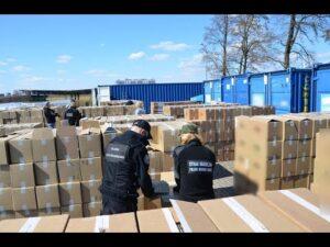 Read more about the article Rekordowy transport nielegalnych papierosów przechwycony przez podlaskie służby
