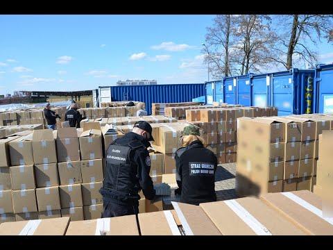 Rekordowy transport nielegalnych papierosów przechwycony przez podlaskie służby