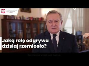 Read more about the article Wicepremier Piotr Gliński o rzemiośle