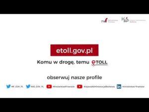 Już działa nowy system poboru opłat drogowych e-TOLL (audiodeskrypcja)
