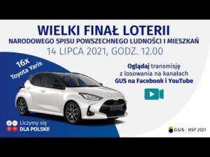 Wielki finał loterii Narodowego Spisu Powszechnego Ludności i Mieszkań. 14 lipca 2021