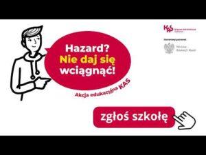 """Read more about the article Szef KAS Magdalena Rzeczkowska o akcji edukacyjnej """"Hazard? Nie daj się wciągnąć!"""""""